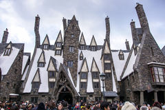 Three Broomsticks. Tavern in Hogsmeade in The Wizarding World of Harry Potter Zone at Universal Studios Japan Stock Photography