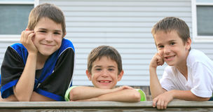 Three Brothers Royalty Free Stock Photos