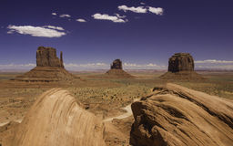 Three Brothers. Beautiful sight over the Monument Valley Stock Photography