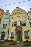 Three Brothers - complex of three medieval houses of seventeenth century in Riga, Latvia. Three Brothers - complex of three medieval houses of seventeenth Royalty Free Stock Photography