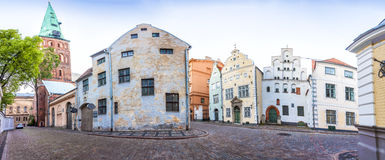 Three Brothers Houses in Riga Royalty Free Stock Image