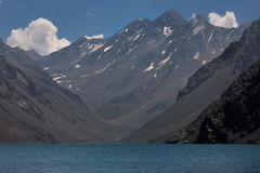 Three Brothers and Inca Lake Chile Stock Photos