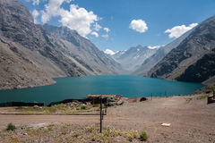 Three Brothers and Inca Lake Chile Royalty Free Stock Photo