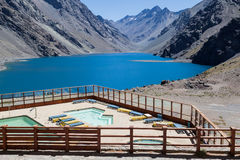 Three Brothers and Inca Lake Chile Stock Photo