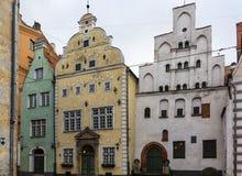 Three Brothers, Riga Stock Photo