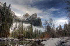 Three Brothers, Yosemite royalty free stock photography