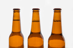 Three brown beer bottles Royalty Free Stock Photo