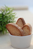 Three Brown Biscuits Royalty Free Stock Image