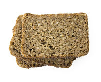 Three brown bread slices with clipping path Stock Photo