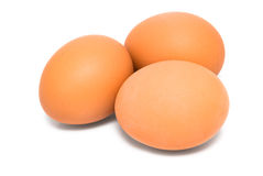 Three brown egg Royalty Free Stock Photos