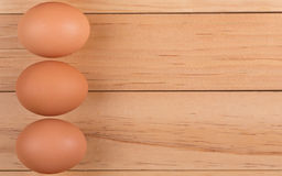 Three Brown Eggs Royalty Free Stock Photos