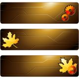 Three brown futuristic banners Stock Image