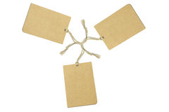 Three brown tags Royalty Free Stock Photography