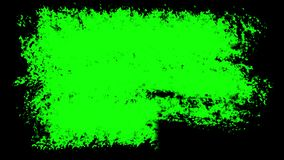 Three Brush stroke on the surface. The prepared element for mixing frames. Animation pack. Three options for liquid transitions, blue, green, black alpha stock illustration