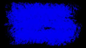Three Brush stroke on the surface. The prepared element for mixing frames. Animation pack. Three options for liquid transitions, blue, green, black alpha vector illustration