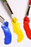 Three brushes Royalty Free Stock Image