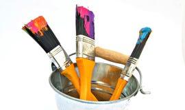Three brushes Royalty Free Stock Photos