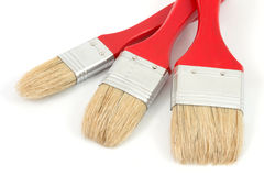 Three brushes 3. Three different brushes with a white background Stock Photos
