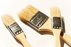 Three brushes Stock Images