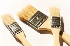 Three brushes stock images
