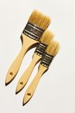 Three brushes Stock Photos