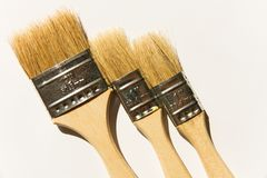 Three brushes Royalty Free Stock Photography