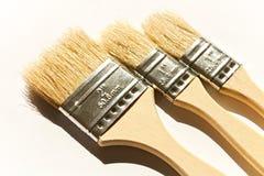 Three brushes Stock Photography
