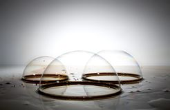 Three Bubbles Royalty Free Stock Images