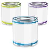 Three buckets of paint,vector Stock Image