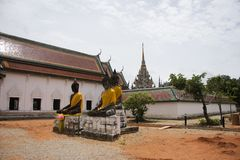 Wat Phra Borommathat Chaiya Temple in Chaiya district in Surat Thani, Thailand Royalty Free Stock Image