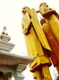Three Buddha Images Standing Elegantly on The Royalty Free Stock Photography