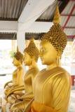 Three Buddha statue indoor Stock Photo