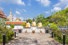 Three buddha statue at Wat Phra Borommathat Chaiya Worawihan, an ancient temple at Chaiya district,Surat Thani province Stock Photography