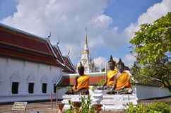 Three Buddha statues Stock Image