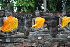 Three Buddha statues, Thailand. Stock Images
