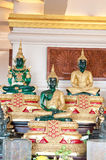 Three Buddha Staute. In Wat Thailand Bangkok Stock Images