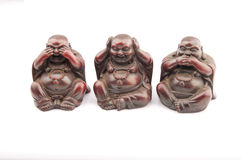 Three Buddhas on white background Royalty Free Stock Photography