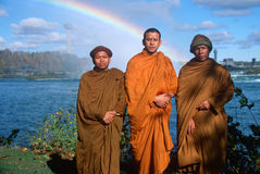 Three Buddhist monk Stock Images