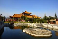 Three buddhist pagodas in Dali old city, Yunnan province, China Royalty Free Stock Image