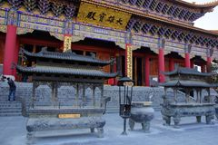 Three buddhist pagodas in Dali old city, Yunnan province, China Royalty Free Stock Images