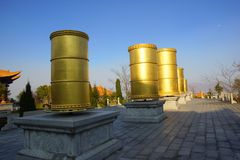 Three buddhist pagodas in Dali old city, Yunnan province, China Royalty Free Stock Photography