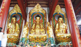 The three Buddhist statue Royalty Free Stock Images