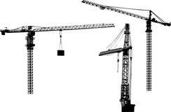 Three Building Cranes Royalty Free Stock Photography