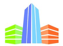 Three building logo royalty free stock photos