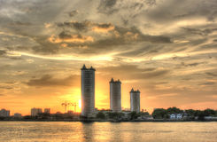 Three buildings HDR Royalty Free Stock Image