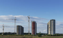 Three buildings on the new site. Stock Images