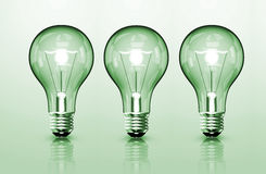 Three Bulb Royalty Free Stock Images