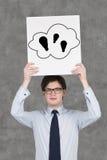 Three bulb in cloud Stock Photo