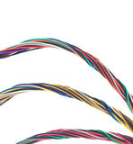 Three Bunches of Colorful Cables Stock Images