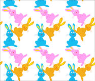 Three bunnies seamless pattern Stock Images